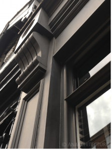 New pilaster and window details at 10 Friar Gate