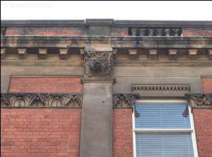 Pilaster details at second floor level