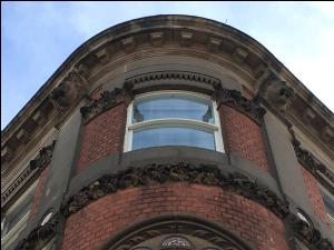 Second floor curved window