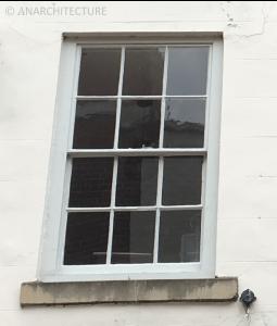 Window following repairs