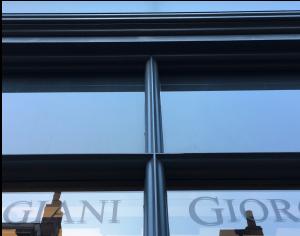 New glazing bar details around transoms
