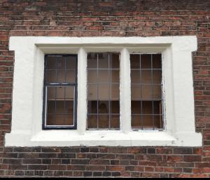 Ground floor leaded window