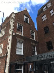 Windows in Becket Street elevation