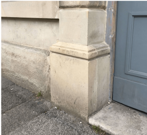 Repairs to stone pilaster pedestal