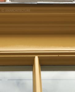 Glazing bar detail, fascia and cornice