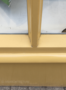 Glazing bar detail and sill