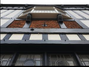 View to first floor oriel window