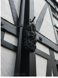 Carved detailing at the Old Bell