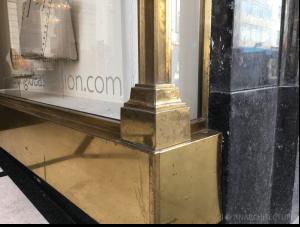 Bronze corner detailing
