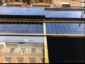 Bronze frame transom windows