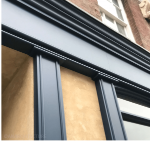New pilasters and fascia