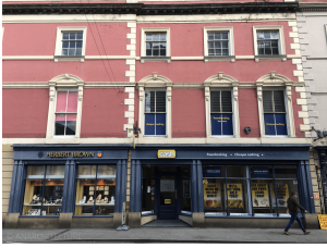 New shop fronts on Albert Street elevation