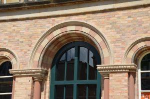 Entrance upper details