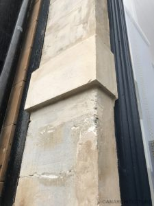 Repaired pilaster