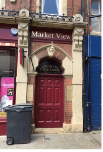 Side entrance at 14 Market Place