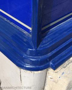 Corner detailing and repaired stall riser
