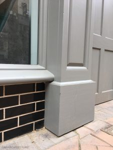 Pilaster and sill detailing