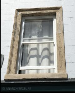 Upper floor window